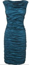 Phase Eight / 8 Mitzi Crush dress in teal Size 12 Worn once