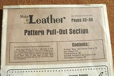 """LEATHER TOOLS/**VTG**""""MAKE IT WITH LEATHER"""" *** PULL-OUT SECTION *** (BB #143)"""