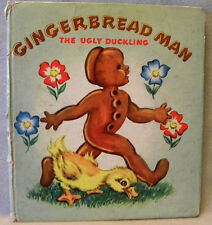 GINGERBREAD MAN & THE UGLY DUCKLING - Whitman Cozy Corner Book, 1949, HC