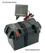 Marine Power Station Smart Battery Box w/Solar Panel Maintainer