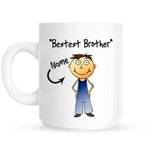 Personalised Bestest Brother Happy Birthday Gift Present Coffee | Tea Mug | Cup