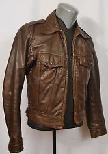 VTG AMF Harley Davidson Cafe Racer Jacket 42 70's Leather Biker Motorcycle Hog