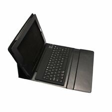 Nero Bluetooth Wireless Silicon Tastiera Custodia In Pelle Per iPad 2/3