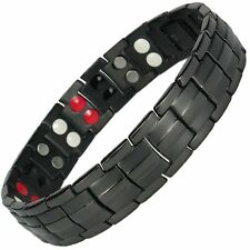 MENS TITANIUM SUPER STRONG MAGNETIC THERAPY BRACELET BIO 4 IN 1 ARTHRITIS 003