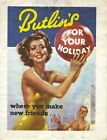 4310 BUTLINS HOLIDAYS VINTAGE STYLE METAL WALL SIGN BRAND NEW