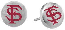 FLORIDA STATE SEMINOLES FSU  Stainless Steel Stud Post Earrings New NCAA Jewelry
