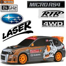 HPI Racing 112465 1/18 Micro RS4 Subaru WRX STI GRC Lasek Rally Car RTR