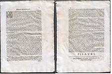 1679 PISA DOCUMENTO IN LATINO INTESTATO MULINI PISANI - TIPOGRAFIA DE GOTTIS AIV
