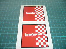 Lambretta Red/White Chequered  (Pair) Scooter stickers 75mm