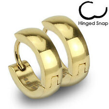 1x Gold IP Over Surgical Stainless Steel Hoop Earring