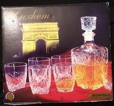 Bormioli Rocco Luxhem Whiskey Decanter 7 Piece Set Made in Italy. New in the Box