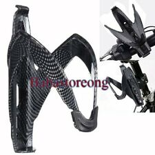 Carbon Fiber Bicycle Cycling Glass Water Bottle Holder Rack Cage Road Bike F5