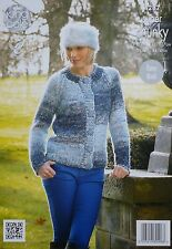 KNITTING PATTERN Ladies Long Sleeve Easy Knit Cardigan Super Chunky 4287