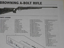 BROWNING A-BOLT RIFLE EXPLODED VIEW