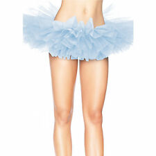 Leg Avenue Organza Tutu Costume Ballet Rave Petticoat Mini Skirt Light Blue
