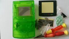 CARCASA COMPLETA COMPATIBLE GAME BOY COLOR CLEAR GREEN NEW