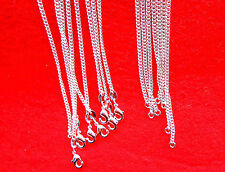"""10PCS 20"""" Wholesale Fashion Jewelry 925 Silver Plated Flat Curb Chain Necklaces"""