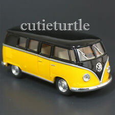Kinsmart 1962 VW Volkswagen Classic Bus Samba 1:32 Diecast Toy Car Black Yellow