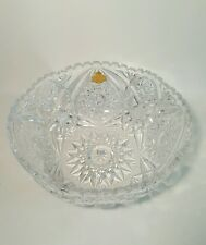 Vintage Lead Crystal Hand Cut Glass Bowl Made In west Germany Mint condition