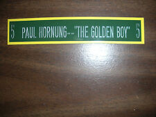 PAUL HORNUNG NAMEPLATE FOR SIGNED BALL CASE/JERSEY CASE/PHOTO