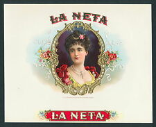 Real Cuban Beauty on Original Antique Cigar Box Label Vintage Art