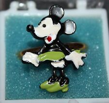 VINTAGE DISNEY MINNIE MOUSE GREEN DRESS RING NOS ADJUSTABLE