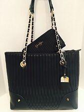 Jessica Simpson NORAH Tote Handbag & Wallet Set~BLACK~Retail $133~GORGEOUS!