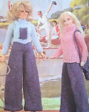 Dolls Clothes Holiday Time, ( Fashion dolls size Barbie etc)  Knitting Pattern