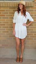 NWT~Ebony Eve~Luca Shirt Dress~White~Aus 8/ US 4~$250 *SOLD OUT ONLINE*