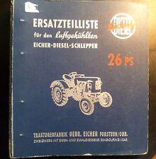 Eicher Schlepper ED26 (26 PS) Ersatzteilkatalog