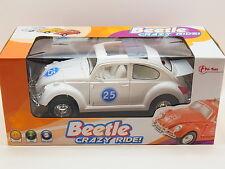 LOT 31792 Crazy VW Beetle Volkswagen Käfer Weiß mit Sound Licht Kinder NEU OVP