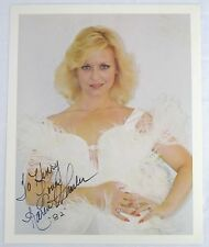 Karen Wheeler Original Autograph, 1970's Country Star in a White Feather Dress
