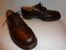 DR DOC MARTENS MADE IN ENGLAND DARK BROWN LEATHER 4-EYE OXFORDS SHOES--15  16