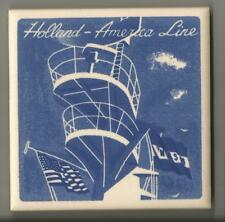 Holland America Line  Blue Delft Tile...Vintage.. Ships Masts, Crows Nest