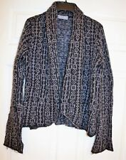 Wooden Ships Gray & Black Mohair Drape Shawl Open Front  Cardigan S/M NEW