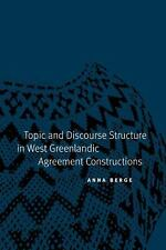 NEW - Topic and Discourse Structure in West Greenlandic Agreement Constructions
