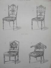 Chaises légère LOUIS XIII fauteuil bureau  le MAGASIN de MEUBLES V.QUETIN XIXéme
