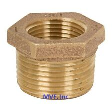 "1/2"" x 1/4″ Lead-Free Brass Hex Reducer Bushing 125# Threaded Npt Br12040241"