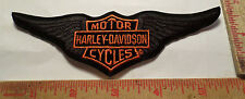 Vintage Harley wings patch collectible old motorcycle biker memorabilia emblem