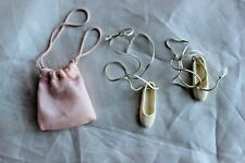Pink Satin Drawstring Bag w/Slippers 989 Barbie Ballerina 1961 set lot dance