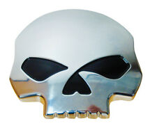 SKULL CHROME ABS CAR BADGE/ EMBLEM - DECORATIVE BADGE 80MM