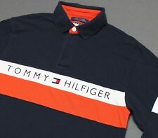 M * vtg 90s TOMMY HILFIGER L/S rugby polo shirt * 89.31
