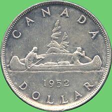 1952 Canada Silver Dollar Coin ( 23.33 Grams, .800 Silver)