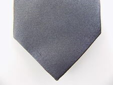 "THEORY $135 MEN DARK Gray Solid Skinny WIDTH 2.5"" DRESS NECK TIE NWD SALE C27"