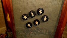 PRIMITIVE BLACK WOOD REFRIGERATOR FRIDGE MAGNETS STAR AGED COUNTRY HOME DECOR
