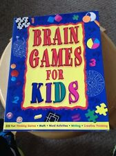 Pre Owned Brain Games For Kids Workbook.  TCM.  Several pages written on.