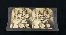 Antique Stereoview Photograph Shaping Plates Potter's Wheel Trenton NJ