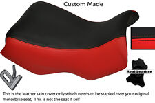 RED AND BLACK CUSTOM FITS BMW R 1150 GS FRONT RIDER LEATHER SEAT COVER