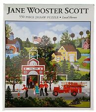 550PC JANE WOOSTER SCOTT • LOCAL HEROES FIREMEN • 550 PIECE JIG SAW PUZZLE USA!