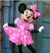 Hot!NEW Pink Minnie Mouse Mascot Costume Adult Fancy Dress Halloween EPE